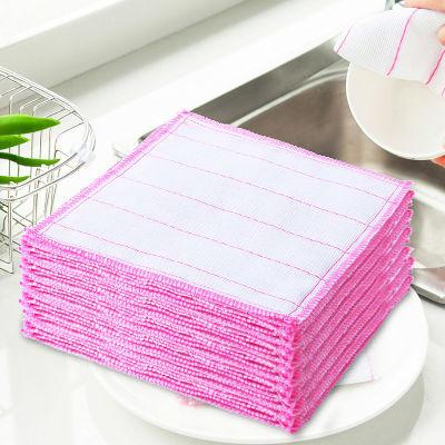 加厚厨房洗碗巾棉纱洗碗布不掉毛抹布不沾油刷碗布清洁去污百洁布