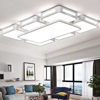 大客厅卧室灯led吸顶灯长方形灯具灯饰餐厅房间灯简约现代温馨控