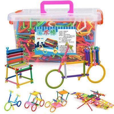 聪明棒积木玩具儿童益智魔术棒拼插图男孩女孩幼儿园宝宝智力开发