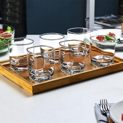 買一套送一套玻璃杯套裝無鉛耐熱水杯家用茶啤酒杯白酒廣告飲料杯