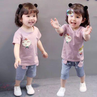 童装男女宝宝夏套装2019新款夏装儿童短袖女0-4周岁123婴儿衣服潮