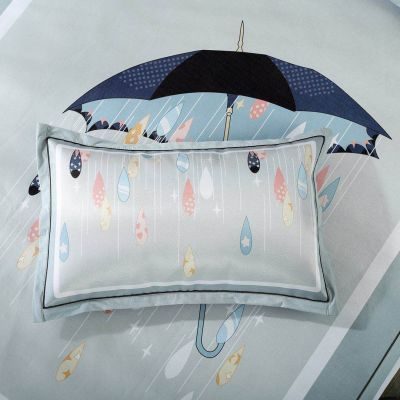 【买一送礼品】新品促销夏季【一对装】冰丝凉爽单人枕套凉席枕套