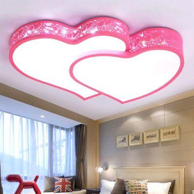 缔光者 儿童卧室吸顶灯LED心形创意简约现代灯饰婚房灯温馨浪漫
