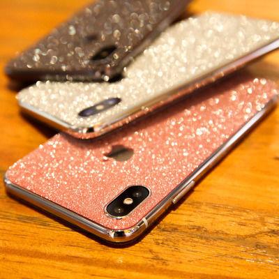 苹果678Plus前后膜iphone11 Pro贴膜XS贴纸手机磨砂闪粉MAX保护膜
