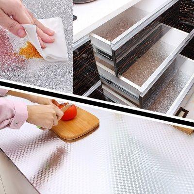 厨房防油贴纸耐高温灶台橱柜油烟防水墙纸自粘旧桌子桌面家具翻新