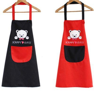【防水防油】情侣围裙袖套防水防油厨房韩版时尚可爱成人男女无袖