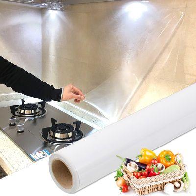 厨房防油贴纸耐高温透明防水贴玻璃贴瓷砖贴自粘墙贴灶台面墙壁纸
