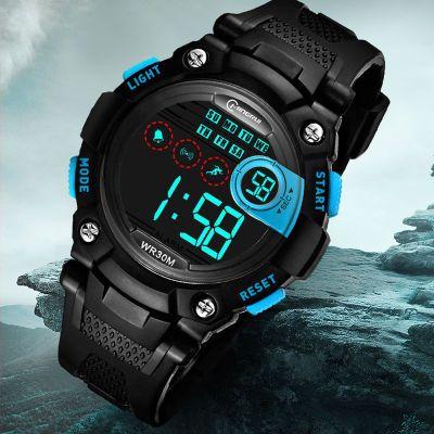 新品儿童手表男孩防水电子表多功能夜光跑步运动中小学生小孩手表