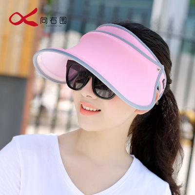 【向右围】帽子女夏天防晒帽遮脸防紫外线潮遮阳帽户外出游太阳帽