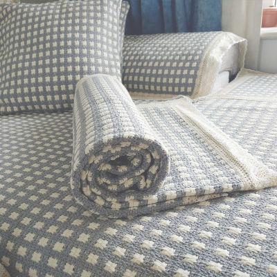 沙发垫四季通用简约现代加厚棉麻布料格子扶手巾靠背巾沙发垫防滑